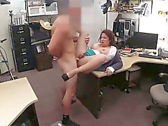 Massive boobs wife pussy fucked to raised cash for the bail