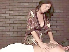 Mature giving sensual massage