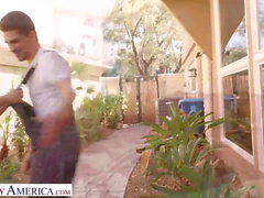 Naughty America Natasha Nice fucks lawn guy