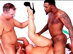 Alura Jenson Interracial threesome with Rome Major and