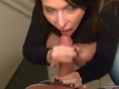 Beautiful French paying blowjob