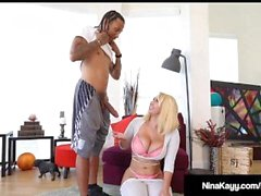 Big Booty Babe Nina Kayy Gets Big Black Cock Yoga Stretch!