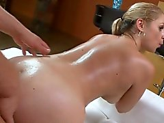 Sexy fuck of oiled massive butt