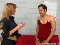 guy gets feminized and ass fucked in prison by chick