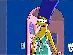 Simpsons Karikatur -Sex: Homers Marges Ficken