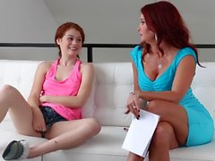 SEXYMOMMA - Redhead stepmom rimming teens juicy asshole