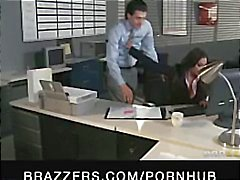 Indian brunette babe Priya Rai is the office bitch and gets fucked
