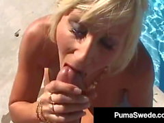 Busty Blonde Bombshell Puma Swede Throat & Pussy Fucks!