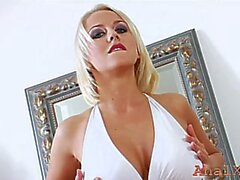 romantic mandy dee with massive natural tits fingers herself