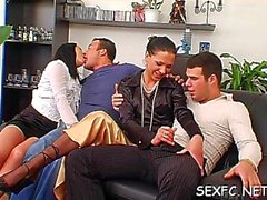 home clothed sex in foursome film video 1