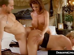 Texas Cougar Deauxma Fucks & Kelly Madison & Hubby Sucks!