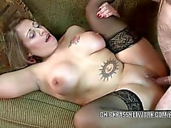 Latina housewife Sandie Marquez is banging a lucky geek