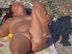 Hot and Horny Mature Nudist Milf Beach Voyeur Spycam Voyeur