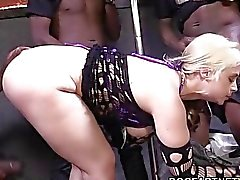 Sarah Vandella Gets Fucked By Several Black Men
