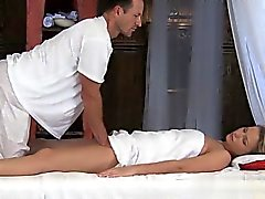 Horny daughter creampie cleanup