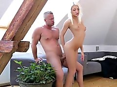 Ravishing skinny cutie gets her juicy twat and tiny anal fuc