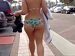 big butt bikini walking 2015