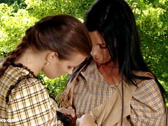Oral Cowgirls by Sapphic Erotica lesbian love porn with Klara Ashley