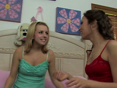 Amber Rayne and Lexi Belle trio older guy