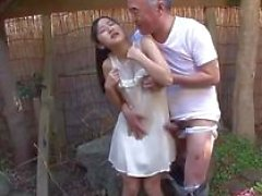 jav idol suzu ichinose gives bj to old guy he calls his friends they all get deep throat