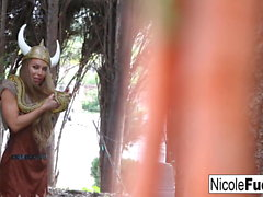 Hunter Nicole Aniston captures a Minotaur and Milks his