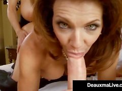 Seksi Milf Deauxma Blindfolds Kelly Madison & Fucks Hubby!