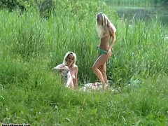 Blonde Tasha Reign make love outdoor onto Erotic America