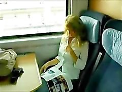 Hot German Sectretary Has Sex on The Train