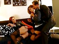 Schoolgirls Chayse Evans and Isis Taylor are no amateurs when it comes to cock