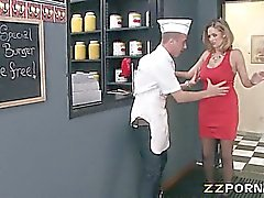 Huge tits MILF Katie Kox screwed up hard
