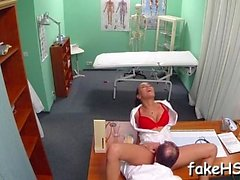 Fake doctor gets her snatch hammered inside fake hospital