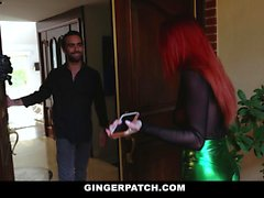 GingerPatch - Perky Titty Redhead Seduce Och Fuck Lucky Guy