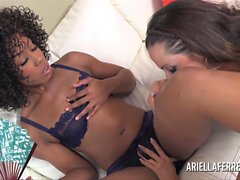 Ariella Ferrera and Misty Stone Super Hot GIrl Girl Action