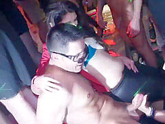 first-timer european squirts on dancefloor
