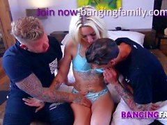 Banging Family - Anal Double Penetration for Young Step-Sister