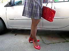 Crossdresser in the car