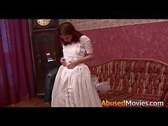 Redhead Bride To be Brutally Forced Fucked