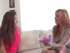'julia ann teaches her step daughter how to stretch her tight ass out'