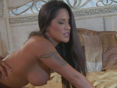 Horny latina Jenaveve Jolie has sex with tattooed guy